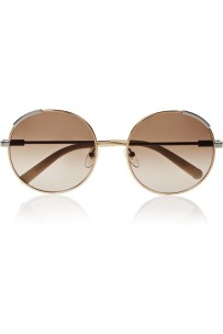 CHLOÉRound-frame gold-tone sunglasses stylecabin