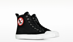 No Heels Black Canvas High Top Sneaker fashion sneakers for women