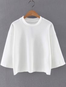 Romwe round neck white stylecabin