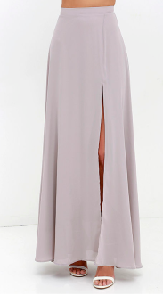Seaside Soiree Taupe Maxi Skirt women clothing stores