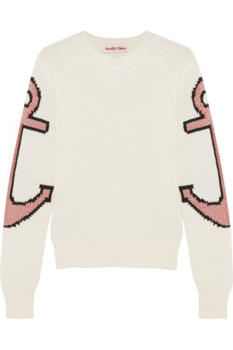 SEE BY CHLOÉAnchor intarsia stretch-cotton sweater stylecabin