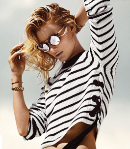 Topshop side laceup sweater natutical stripes stylecabin stylecabinrunway