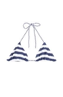 Zoe Karssen Printed triangle bikini top stylecabin stripes nautical