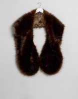 ASOS Oversized Faux Fur Scarf In Chocolate.jpg