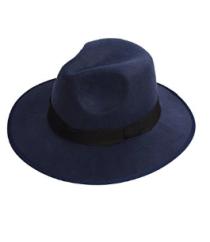 Black Felt Fedora Style Hat.png