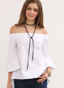 White Off The Shoulder Bell Sleeve Blouse.png