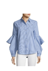 BCBGMAXAZRIA THELMA STRIPED RUFFLE-SLEEVE SHIRT.png