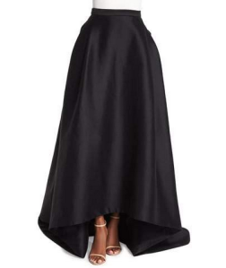 Carolina Herrera High-Low Ball Skirt, Black