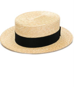 Prada woven straw boater hat