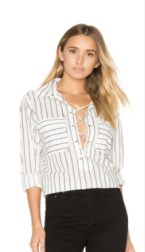 EQUIPMENT KNOX LACE UP BLOUSE