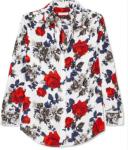 Equipment - Signature Floral-print Silk Crepe De Chine Shirt - Red