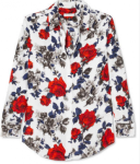 Equipment - Signature Floral-print Silk Crepe De Chine Shirt - Red