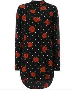 Saint Laurent floral polka-dot shirt