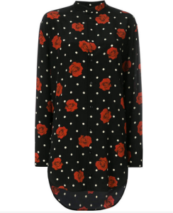 Saint Laurent floral polka-dot shirt