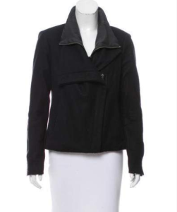 Helmut Lang Wool Leather-Trimmed Jacket