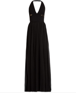 ELIE SAAB V-neck lace-panelled gown