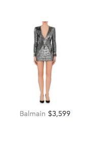 Balmain silver dress