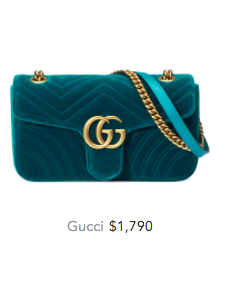 Green gucci velvet bag