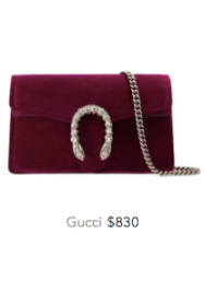 Gucci red velvet bag
