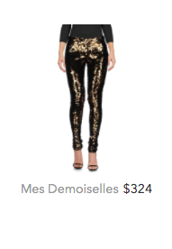 Mes Demoiselles gold trousers