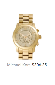 Michael Kors gold watch for women.png