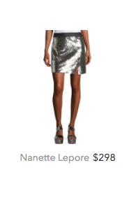 Nanette Lepore silver skirt.png