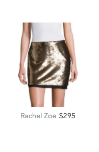 Rachel Zoe gold sequin skirt.png