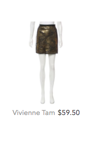 Vivienne Tam gold sequins skirt.png
